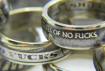 Coin Rings / Awesome rings custom made from Zero Fucks Coins!