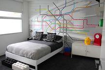 Teenage boys' rooms