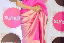 contrast blouse saree