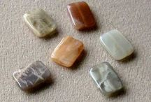 Stone Beads > Moonstone Beads / Natural Moonstone Beads in a variety of shapes, colors and sizes.