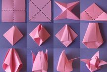 Paper flowers and origami