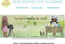 Les Blogs de nos clients / Nos clients ont du talent !! Nous vous proposons de découvrir l'univers de nos clients en vous présentant leur blog ...