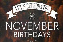 November, my birth month
