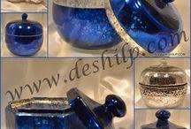 glass color jar