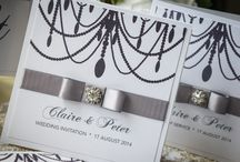 Wedding Stationery - Premier Chandelier Collection / Our luxury handmade Premier Chandelier collection is printed on premier pearl ice card decorated with truly stunning rhinestone embellishment and bound with satin ribbon. www.serendipityweddingdesign.co.uk