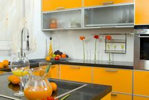 Orange Kitchens