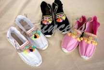 zapatillas decoradaa