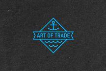 Moodboar - Logo Off Course / Zbiór pomysłów, w celu stworzenia logo marki odzieżowej Off Course.