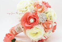 Brooches And Blooms Bouquets / A bit of bling to bring glamour to your day!