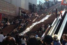 流しそうめんの「ビックリしちゃった新記録」 / 2013年7月11日京都駅ビルの大階段で流しそうめんの最速記録に挑戦しました! ※日本テレビ系「ビックリしちゃった新記録」の番組企画