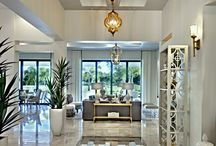 Entries and Foyers - Lovely First Impressions by The Sater Design Collection / Beautiful entries, courtyards, and foyers by the Sater Design Collection.