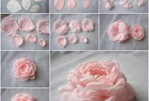 rózsák textilből