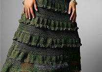 Crochet - clothing Skirts, Tops etc. / by Laura Hubbell
