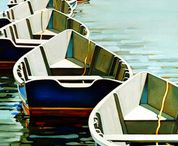 Boats, water, marine, nautical, beaches,ocean, / illustration of Boats, water, marine, nautical, beaches,ocean, for editorial, book and advertising.