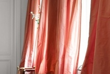 Salmon curtains / by Gina Moya