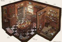 2D| Interior Concept Art