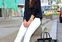 Roupas - calça branca