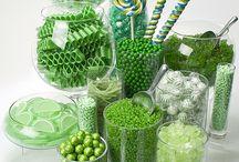 Greenery candy bar