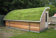Tuinhuis groen dak