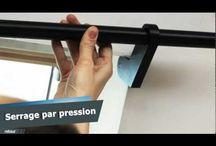 Rideaux et tringles pour fenêtres de toit