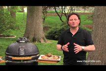 Kamado grill and smoker