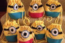 Crochet drawstring bags/pouches