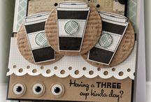 coffee and tea cup cards / by Pauline Kolochuk