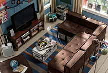 Media room cool / by Ladyship Designs