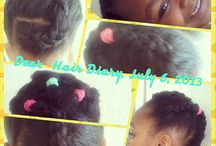 My lil divadolly's hair