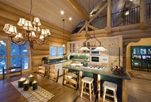 Dream Houses / Log Cabin ideas / by Kathryn Childs