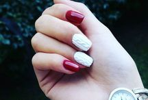 Red and White Nail Art Designs