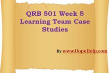 QRB 501 Week 5 Learning Team Case Studies / Instant professional help is just a click away. Connect with us to join the community of instant learning on the QRB 501 Week 5 Learning Team Case Studies.