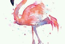 Flamingo baby girl party