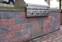 Outdoor Kitchens & Bars / Outdoor Kitchen areas and Bars created with R.I. Lampus products