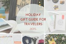 Holiday Gift Guide for Travelers! / I'm very excited to share with you some of my favorite travel-related items and essentials that I know will make great gifts for any fellow nomads out there! I'm even MORE excited to give away some of these items to a few lucky readers and offer some promo codes as well, thanks to the generosity of awesome companies. Click through to go to my blog for more details! :)