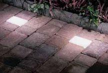 garden / ideas for lighting and hardsurfaces