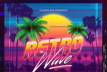 Synthwave 80's Flyer Template / FOR SALE! Editable .PSD ( Photoshop ) Format. Retro Flyer That inspired by synthwave music scene. Synthwave expresses nostalgia from 1980s / 1990's culture ( Films, Video Games, Cartoon ) , attempting to capture the era's atmosphere.  Great For Synthwave, Vaporwave, Dreamwave, Retrowave, Synthpop Event.