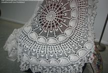 crochet oval tablecloth