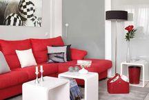 Deco blanco y rojo