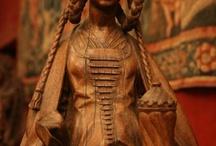 Statue lignee,avorio,alabastro,terracotta