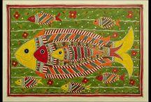 Indian Madhibani Folk Art / Indian Folk Art Madhubani Paintings - From walls to scrolls to comtemporary fusion...