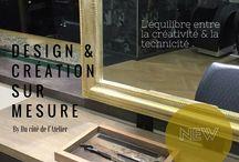 Création mobilier & objets de déco sur mesure pour professionnels