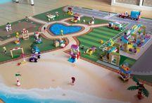 Speelmat / speelkleed voor LEGO Friends Heartlake City / LEGO friends heartlake city Speelmat / speelkleed 153cm x 153cm