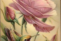 pajaros y rosa