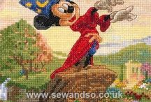 Disney Cross Stitch / Who doesn't love Disney? We've collected all our favourite Disney cross stitch kits and charts