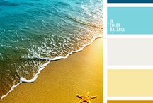 Color scheme - Blue, brown - refreshing