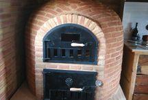 Horno de barro con hornilla / Montajes de hornos de barro con hornilla. Hornos de leña de Pereruela con hornilla para aprovechar al máximo su capacidad y duplicar la superficie de cocción.