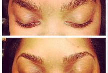 Eyebrow Threading  / Eyebrow Threading - Before, During & After