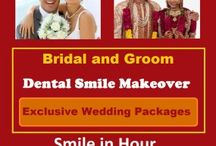 Bridal and Groom Dental Smile Makeover Exclusive Wedding Packages / If you are getting married, what better way to get ready for your great memorable day of your life than having your beautiful gorgeous smile? Remember Your Wedding day ceremony is the one of the most memorable and important day of your life.… * Bridal and Groom are the most important on marriage day in fact they are the stars of the day. * On Wedding day your smile is the thing most people notice on your face. * Moreover your smile is important are going to be permanently captured in photo,video