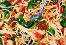 pasta/spinach